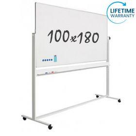 verrijdbaar whiteboard emaille 100 x 180 cm