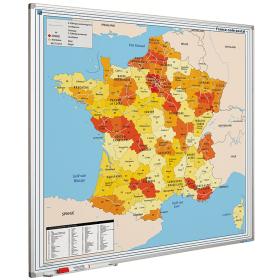 Whiteboard landkaart - Frankrijk postcodes