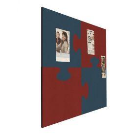 Prikbord bulletin - Puzzel - Rood-Blauw 1