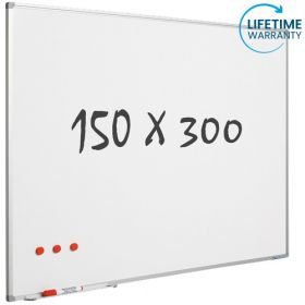 extra groot whiteboard emaille 150 x 300