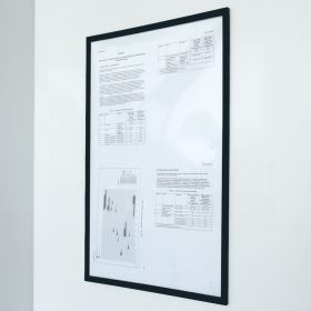 Magnetische documenthouder PRO - A4 - Zwart - Per stuk