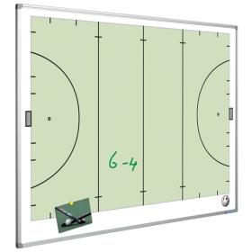 Whiteboard met hockeyveld - 90 x 120 cm