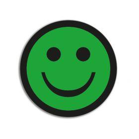 Impressiemagneten – Smiley positief – Groen - Ø 50 mm – set van 5 stuks