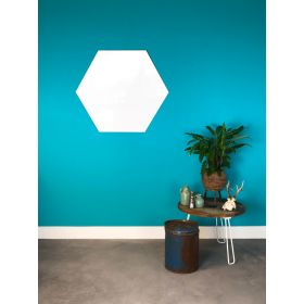 Whiteboard zonder rand - Hexagon - 100 cm