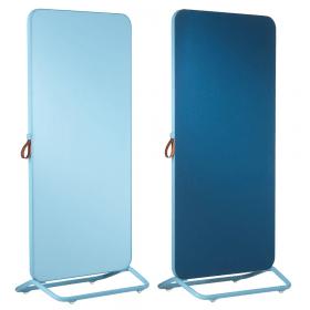Chameleon Mobile dubbelzijdig glassboard/prikbord 89 x 192 cm - Blauw
