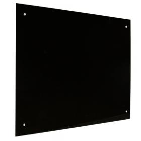 Glassboard zwart -45x60