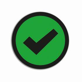 Impressiemagneten – Vinkje groen – Ø 50 mm – set van 5 stuks