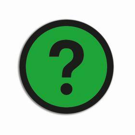 Impressiemagneten – Vraagteken groen – Ø 50 mm – set van 5 stuks