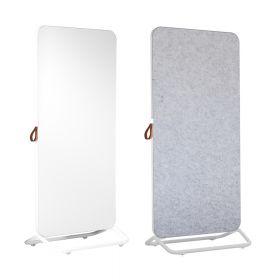 Chameleon Mobile dubbelzijdig whiteboard/prikbord 89 x 192 cm - Wit/Grijs prikbord