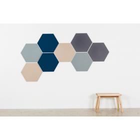 Design prikbord zeshoek - kleurcode 2186 - beige