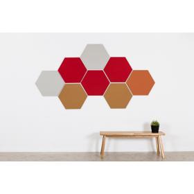 Design prikbord zeshoek - kleurcode 2211 - oranje