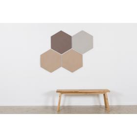 Design prikbord zeshoek - kleurcode 2187 - zandkleur
