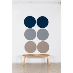 Design prikbord rond - kleurcode 2182 - grijs/bruin