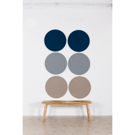 Design prikbord rond - kleurcode 2214 - donkerblauw