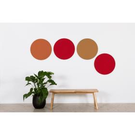 Design prikbord rond - kleurcode 2207 - cognac
