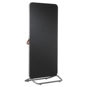 Chameleon Mobile dubbelzijdig prikbord 89 x 192 cm - Grijs/Zwart