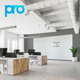 Whiteboardwand 200x400 cm (4 panelen) - PRO - Polyester coating