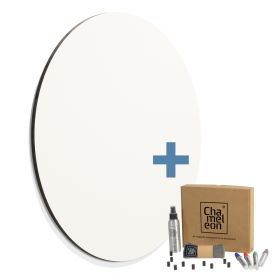 rond whiteboard zonder rand wit 58cm