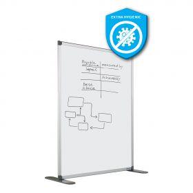 Scheidingswand dubbelzijdig - Whiteboard - Extra hygiënisch emaille - 140x120 cm