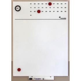 Skin Whiteboard 55x75 cm - Met tijd- en maand aanduiding
