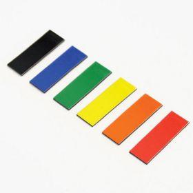 Magnetische symbolen - Rechthoek - 1 x 2 cm - Geel - vel van 48 stuks
