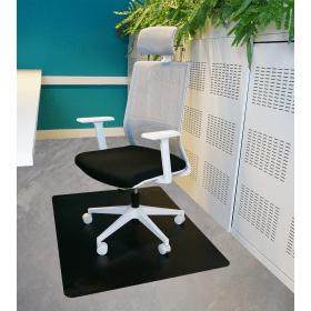 zwart vloerbeschermer 120x150 cm