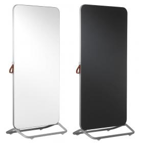 Chameleon Mobile dubbelzijdig whiteboard/prikbord 89 x 192 cm - Wit/Zwart