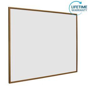 Whiteboard softline profiel 16mm Eiken-houtlook, emailstaal wit 100x150 cm 1