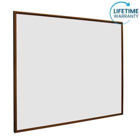 Whiteboard softline profiel 16mm Noten-houtlook, emailstaal wit 90x120 cm 1