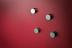 Glassboard magneten zilver - 6 stuks