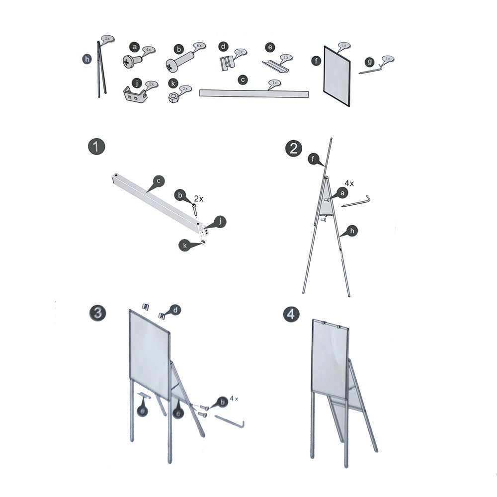 montage instructies flipover